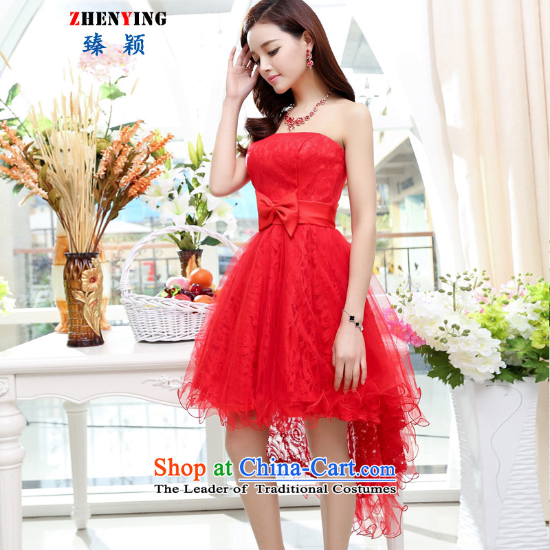 Zen Ying Female dress sense 2015 Mrs female lace wedding dresses with evening dresses temperament Sau San with small Red Shawl?L
