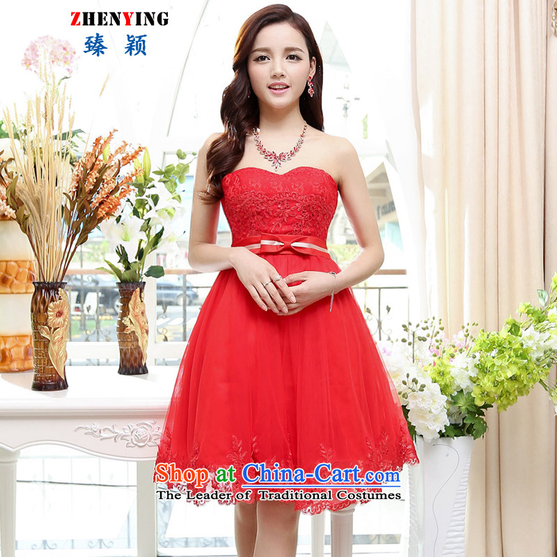 Zen Ying?Summer 2015 Mrs female depilation SENSE Breast Foutune of video thin lace wedding dresses with evening dresses temperament Sau San with small Red Shawl?M