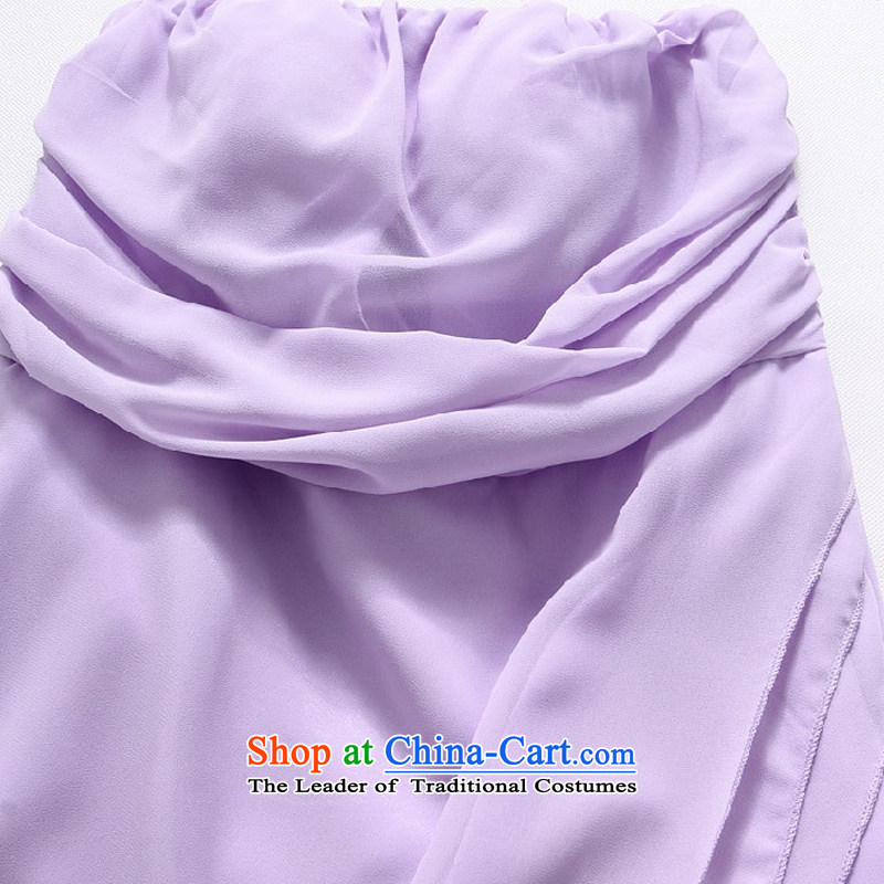 Hiv has a bright and elegant Qi Chest Foutune of Princess skirt omelet before large chiffon dress dresses聽T9833A-1聽聽XXXL, purple HIV has been qi (aiyaqi) , , , shopping on the Internet