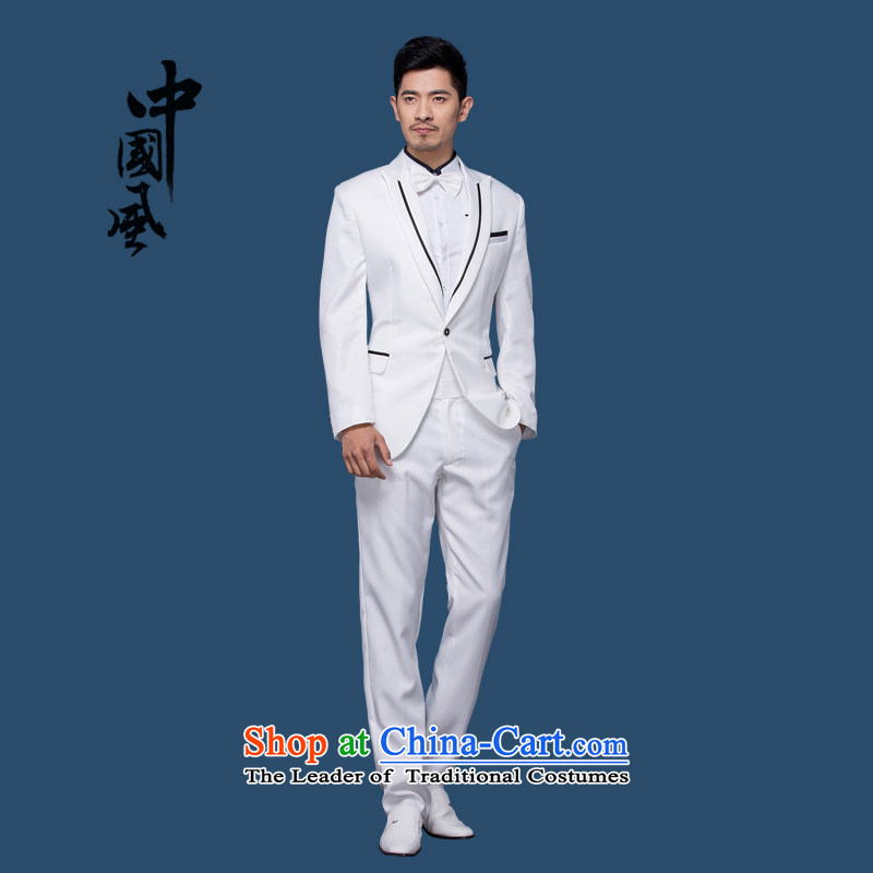 Pure Love bamboo yarn men marry her dress suit kit with new dresses Korea Health Division of the Stage Edition affect men boys performances.?B) dress kit?170(M)130 catty