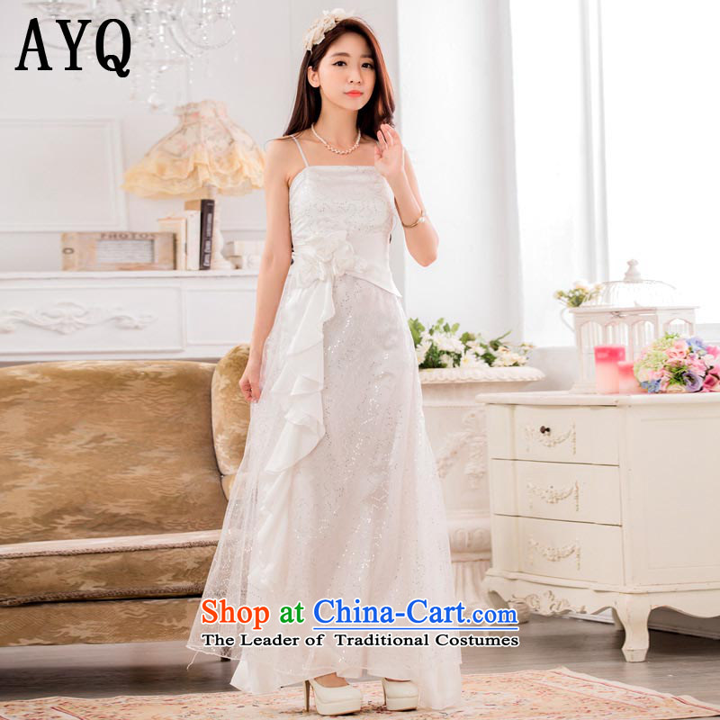Hiv has the super star stylish Qi on chip evening dresses show service long gown?T9929A-1 large?white are Code F
