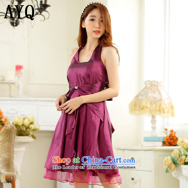 Hiv has been qi minimalist thin waist straps in history skirt dinner small dress dresses�T9927A-1��XXXL aubergine