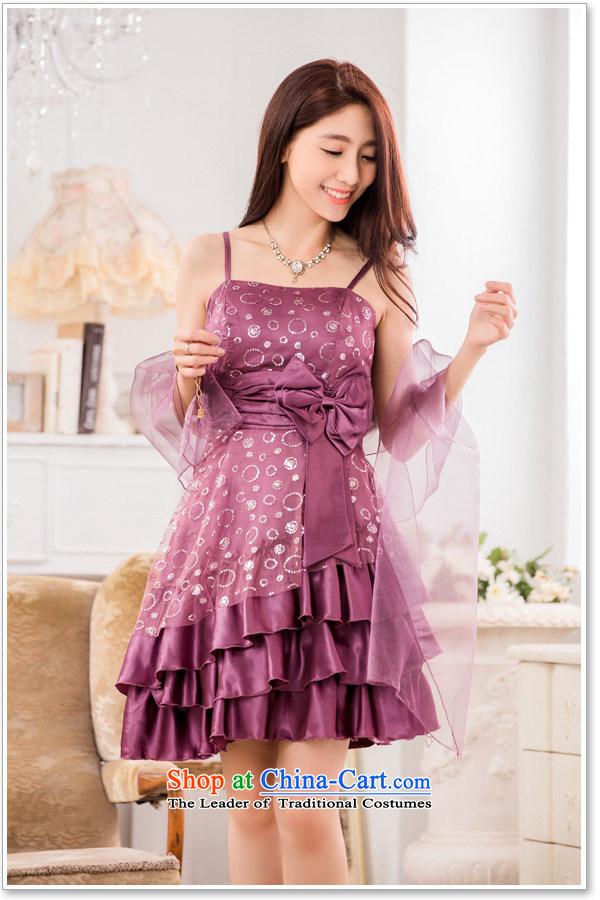 Hiv has chaired qi evening performances on the evening dress is a Bow Tie StrapsT9838A-1 dresspurpleXXXL small pictures, prices, brand platters! The elections are supplied in the national character of distribution, so action, buy now enjoy more preferential! As soon as possible.