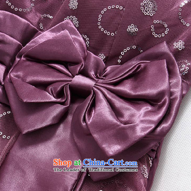 Hiv has chaired qi evening performances on the evening dress is a Bow Tie StrapsT9838A-1 dresspurpleXXXL, small HIV has been qi (aiyaqi) , , , shopping on the Internet