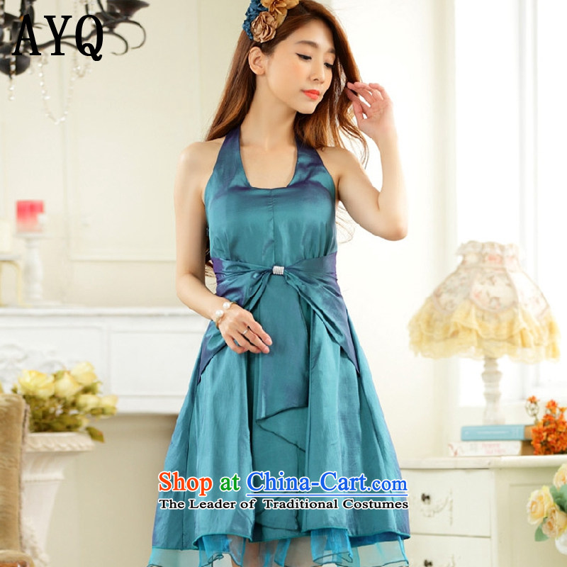 Hiv has been qi minimalist thin waist straps in history skirt dinner small dress dresses�T9927A-1��XXXL green