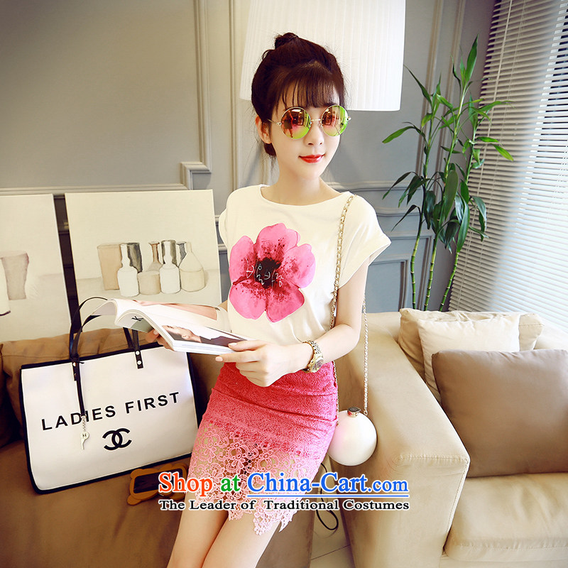 2015 new summer, two kits gradient lace body skirt flowers Kit 6893 red are code