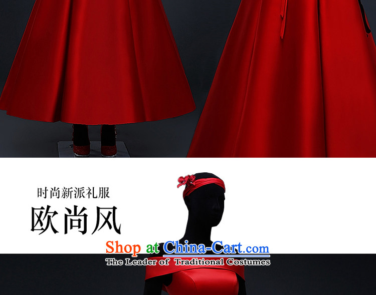 Hillo XILUOSHA) Lisa (red satin wedding dress 2015 Spring bridal dresses bon bon skirt bows in marriage long chinese red L picture, prices, brand platters! The elections are supplied in the national character of distribution, so action, buy now enjoy more preferential! As soon as possible.