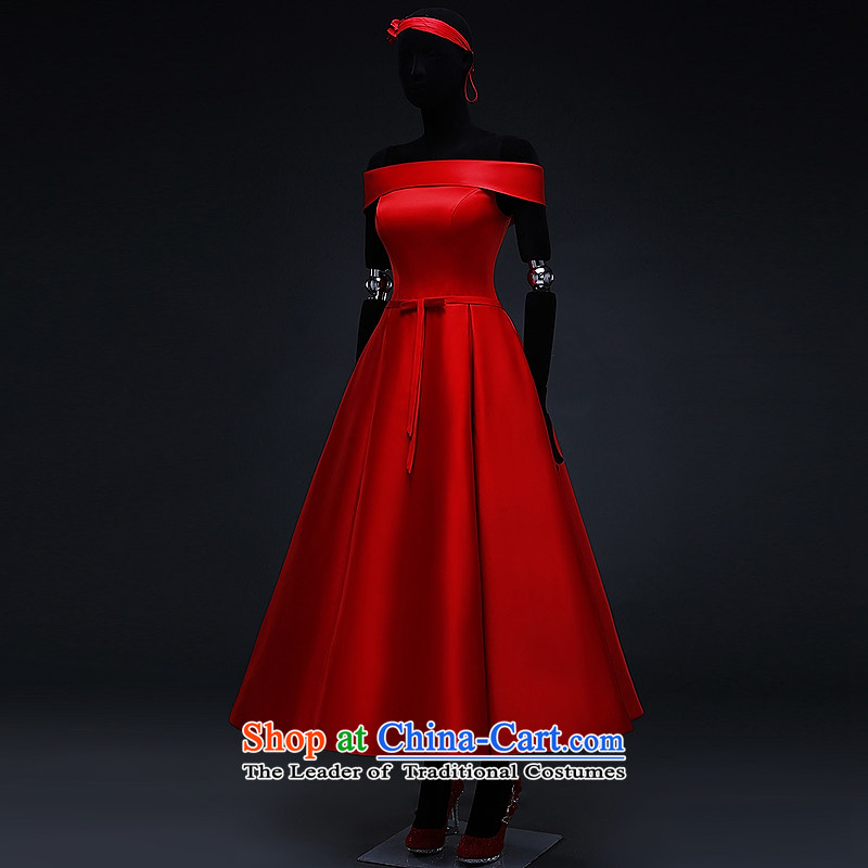 Hillo XILUOSHA) Lisa (red satin wedding dress 2015 Spring bridal dresses bon bon skirt bows in marriage long chinese red , L HILLO Lisa (XILUOSHA) , , , shopping on the Internet
