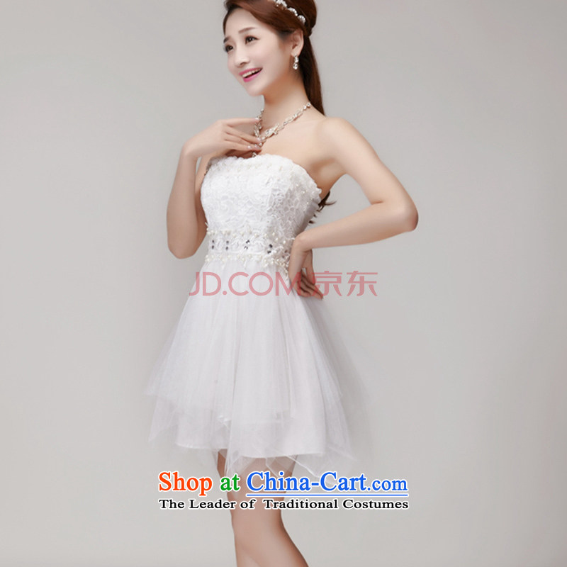 Coastline Fong Dag Hammarskj?ld manually staple Pearl 2015 diamond temperament and Sau San chest dresses bridesmaid groups dress skirt apricot?L