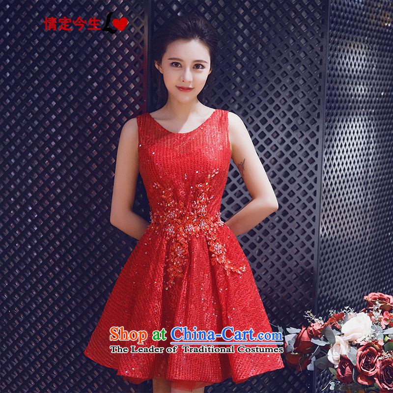 Love of the overcharged by 2015 Summer New Red slotted shoulder sweet like Susy Nagle dresses bride wedding dress bows services bridesmaid evening dress red XXL