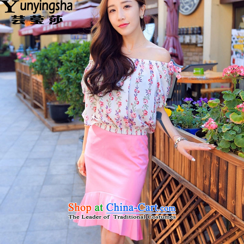 Yun-ying sa 2015 summer load a new women's field for debris with flower patterns fashionable package and skirt Sau San Kit crowsfoot dress skirt L9330 picture color?M