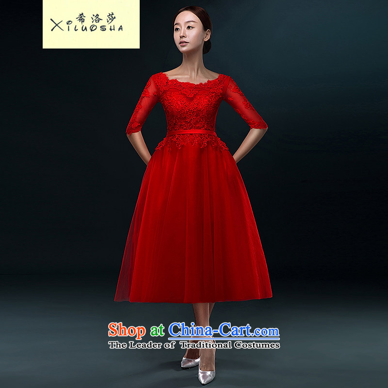 Hillo Lisa _XILUOSHA_ booking wedding dress bride in the long, bows wedding dress in female banquet dress cuff 2015 new winter chinese red?M