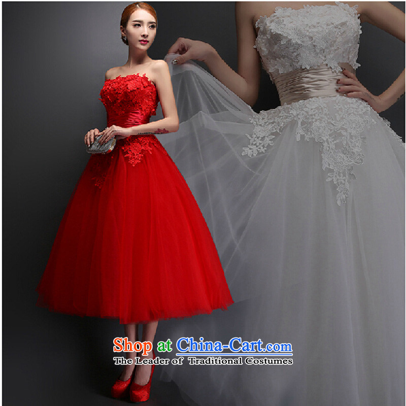 The Korean version of the new 2015 stylish Sau San dress marriages long drink service banquet moderator evening dresses summer RED�M