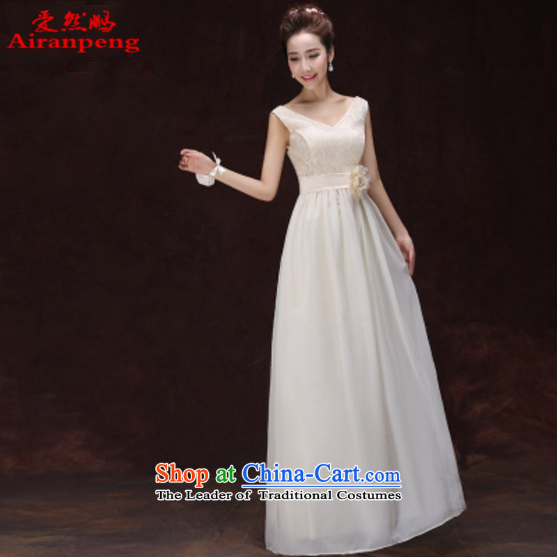 Love So Peng bridesmaid dress 2015 new champagne color bridesmaid sister skirt short of serving dinner evening dress small dress spring and summer, E long M