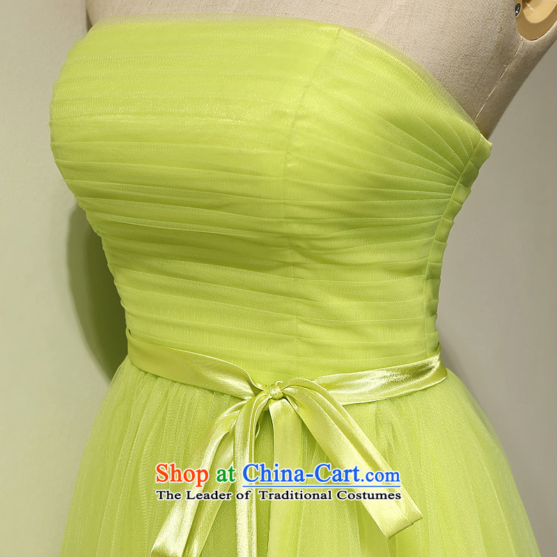 Bridesmaid summer short of serving the spring and summer of 2015, the new Marriage banquet evening dresses and sisters in Korean small dress skirt fruit graduated from green tailored please contact Customer Service