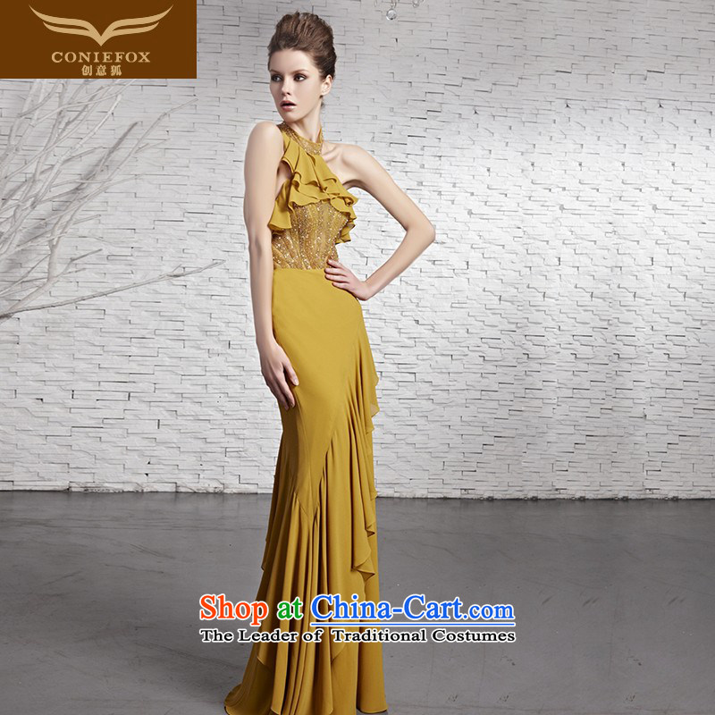 Creative Fox evening dresses?2015 new hang also noble evening dresses long gown banquet bows service     annual meeting presided over 81618 color pictures dress?XXL