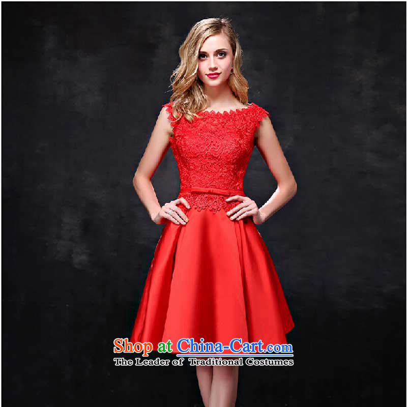 However, the summer short bride services 2015 shoulders lace Sau San marriage wedding dresses red banquet evening dress red tailored please contact Customer Service
