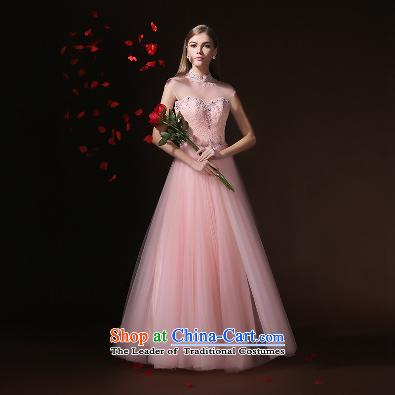 In accordance with the prescribed graduated from Elizabeth KWAN wedding-dress female 2015 Marriage long summer evening dresses bride services wedding dress bows bridesmaid services Pink?S