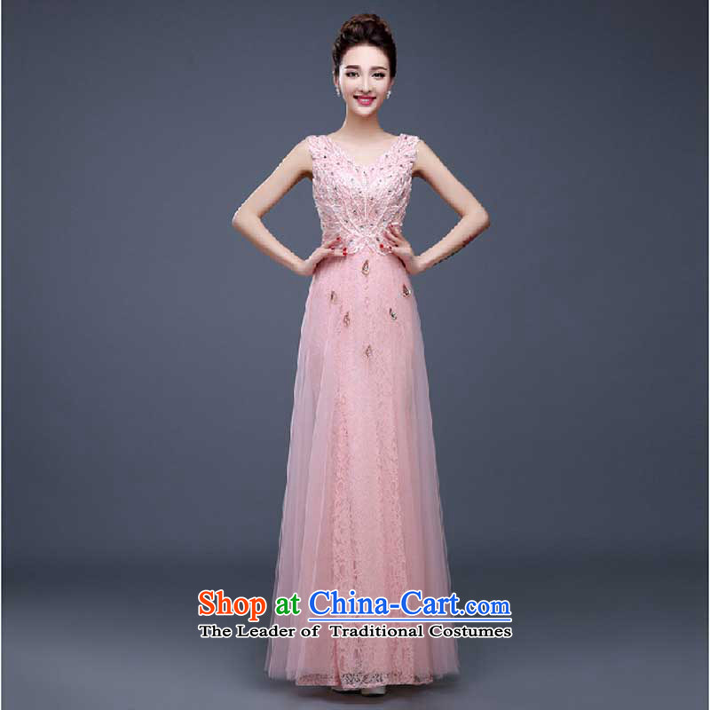 Evening dress new summer 2015 short, banquet dresses dress girl brides bows to marry a stylish field shoulder pink?M