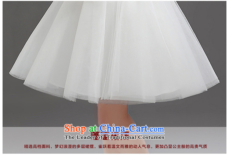 In the early 2015 new man bridesmaid short of small dress bride evening dress short, lace straps princess skirt white L picture, prices, brand platters! The elections are supplied in the national character of distribution, so action, buy now enjoy more preferential! As soon as possible.
