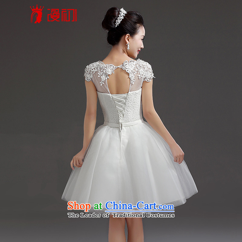 In the early 2015 new man bridesmaid short of small dress bride evening dress short, lace straps princess skirt white L, Early Man , , , shopping on the Internet