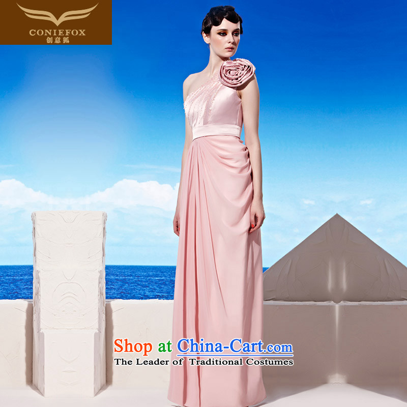 Creative Fox evening dresses�2015 new pink long bridesmaid dress banquet evening dresses Sau San long skirt annual meeting of persons chairing the dress 58020 pink�S
