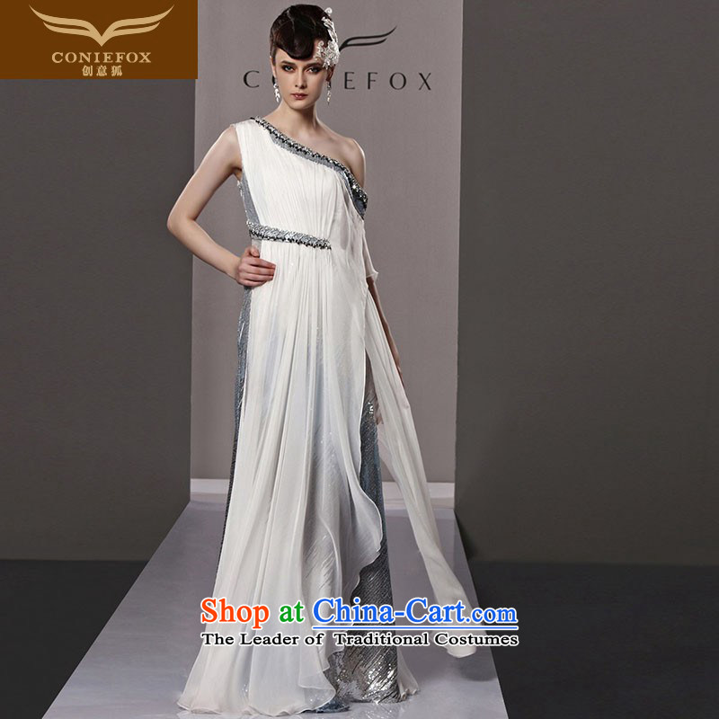 Creative Fox evening dresses continental retro stage performances service banquet sexy shoulder evening dress long skirt annual meeting of persons chairing the dress dresses 81192 color picture�S