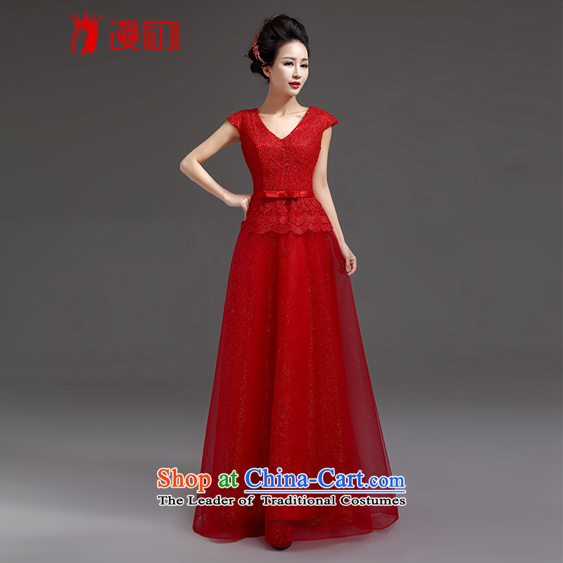 At the beginning of Castores Magi evening dress 2015 new shoulders dress long stylish sexy dress marriages bows services RED�M