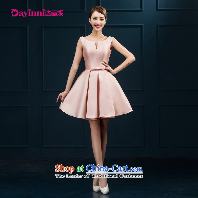 Bridesmaid Services 2015 NEW Summer Package shoulder bridesmaid mission dress Female dress short skirt) Bride Services Mr White?L bows
