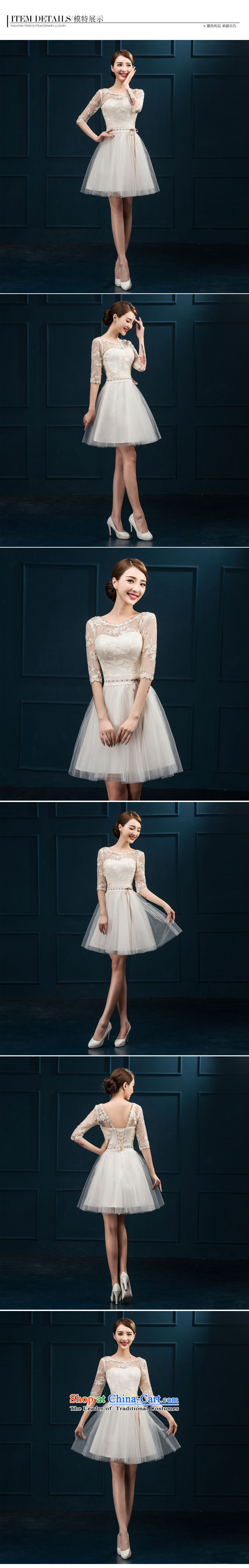 2015 new bridesmaid services serving the summer short of bows in cuff bridesmaid skirt evening dress married women chairpersons dress female champagne color聽L picture, prices, brand platters! The elections are supplied in the national character of distribution, so action, buy now enjoy more preferential! As soon as possible.