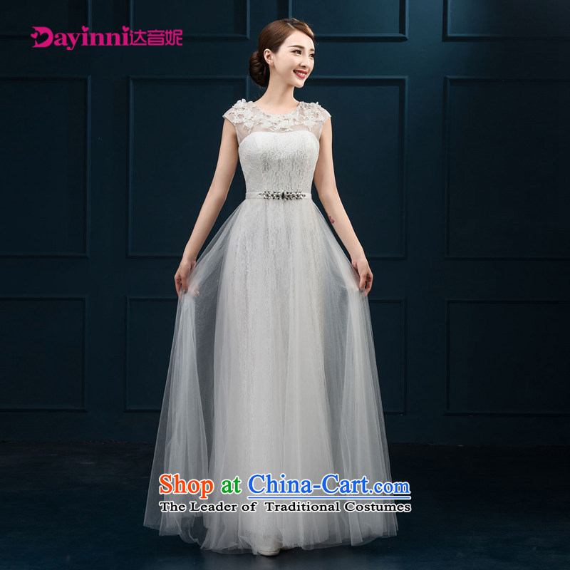 Banquet dinner dress 2015 new bride bows Services Mr Ronald moderator dress a shoulder evening dresses field long female White?XXL
