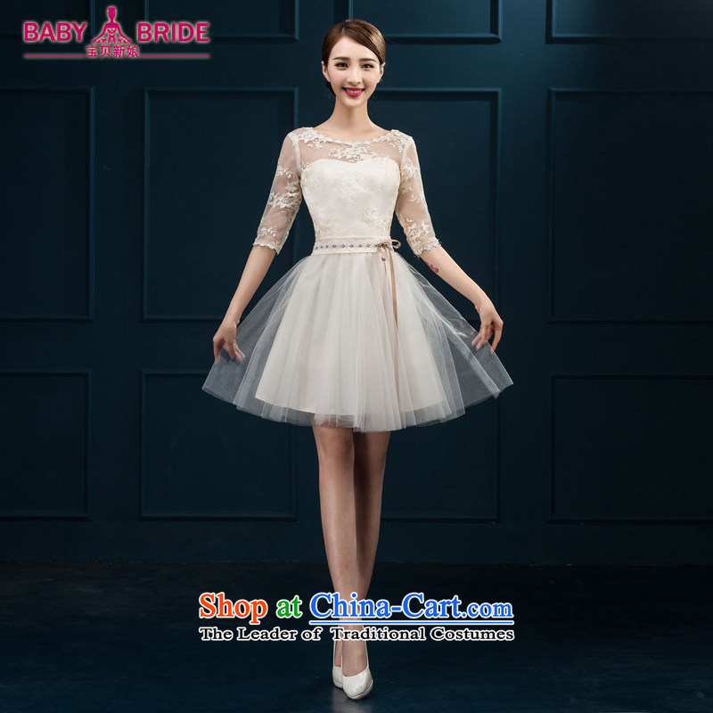 2015 new bridesmaid services serving the summer short of bows in cuff bridesmaid skirt evening dress married women chairpersons dress female white�S