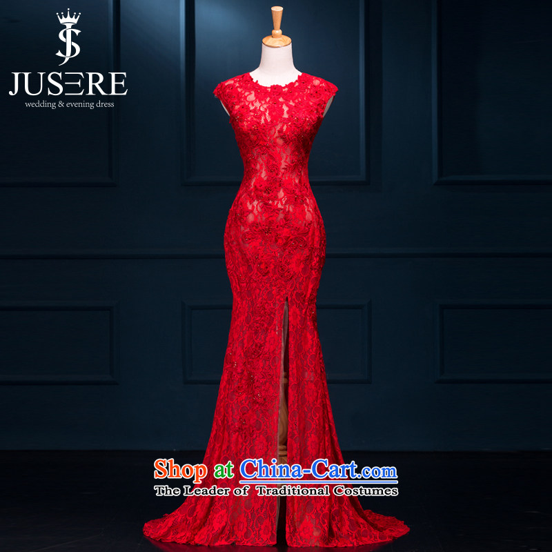 The thousand-hoc is red wedding dresses 2015 new marriages bows banquet long evening dress chinese red high-end custom contact customer service
