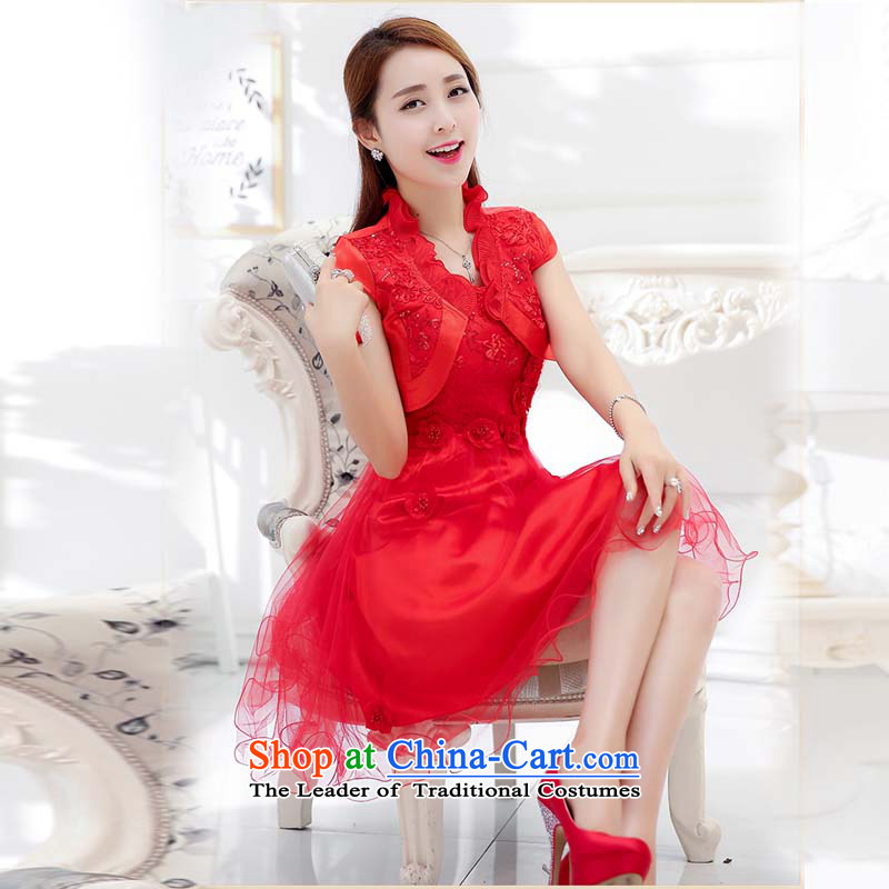 The law was in Dili 2015 Qi new bridesmaid marriages bows evening dresses female red long spring and summer wedding dresses, wedding package back to the door to red 1752D 2XL, law, Manasseh (qi fash-modi) , , , shopping on the Internet