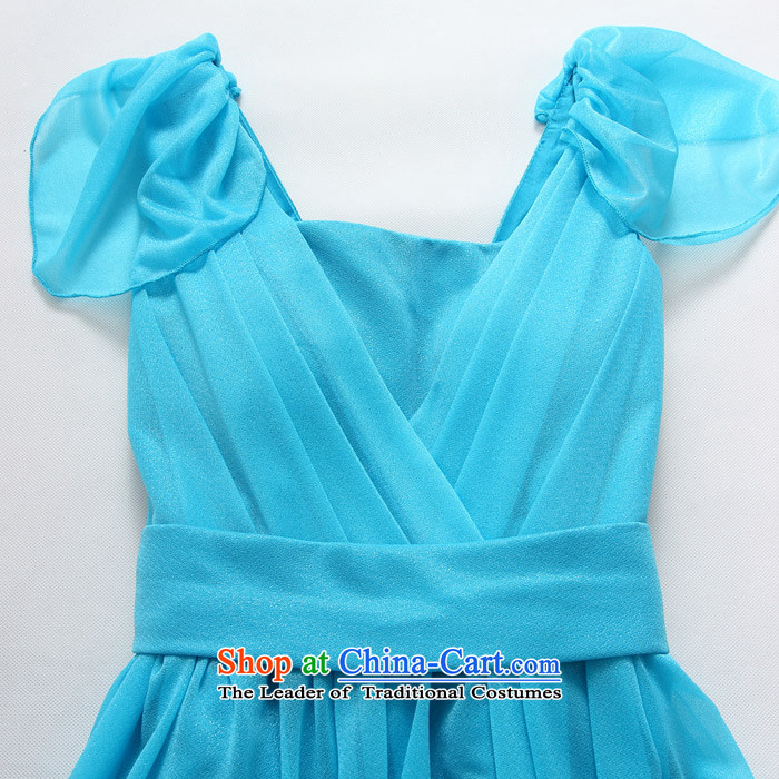 2015 Fashion Sau San shade Jk2.yy shoulder bridesmaid skirt thick sister larger bridesmaid short of dress pure color blue skirt XXL recommendations about 140 pictures, prices, brand platters! The elections are supplied in the national character of distribution, so action, buy now enjoy more preferential! As soon as possible.