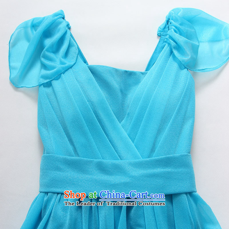 2015 Fashion Sau San shade Jk2.yy shoulder bridesmaid skirt thick sister larger bridesmaid short of dress pure color blue skirtXXL recommendations about 140 ,JK2.YY,,, shopping on the Internet