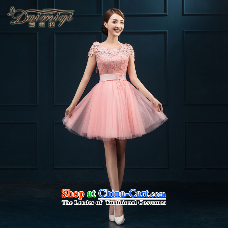 The Bride Services Mr Ronald 2015 new drink, dinner dress red dress marriage bridesmaid small dress dresses female pink?XL