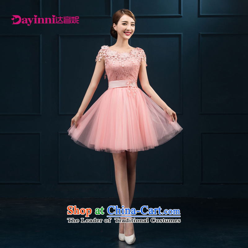 The Bride Services Mr Ronald 2015 new drink, dinner dress red dress marriage bridesmaid small dress dresses female pink?M