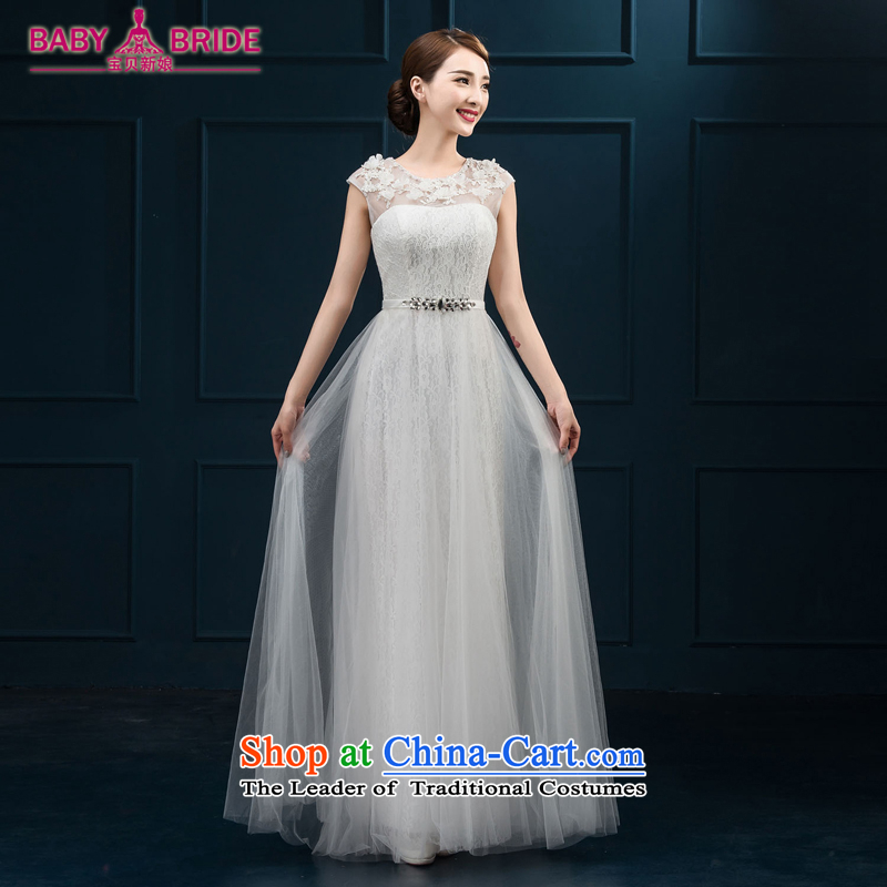 Banquet dinner dress 2015 new bride bows Services Mr Ronald moderator dress a shoulder evening dresses field long female White?XL