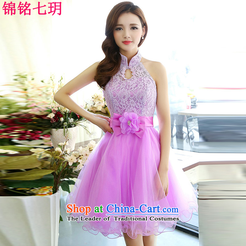The Honorable Martin Lee Kam-wah 7 of?2015 Summer new irrepressible wedding dresses bows services evening dress short of Ms. banquet service light purple?XL