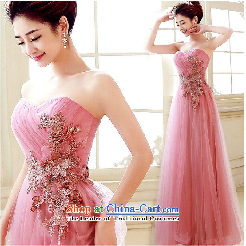 Evening dress new summer 2015 short, banquet dresses dress girl brides bows to marry a stylish field shoulder rose to�L