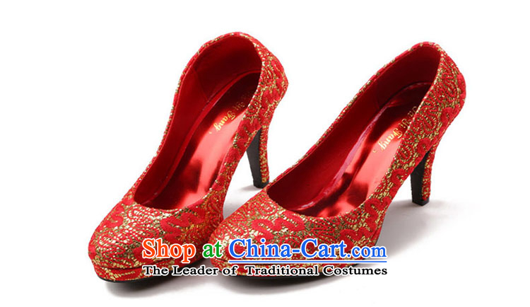2015 new marriage women shoes high heels sweet flowers waterproof shoes women marry Taiwan Footwear marriage shoes red35 pictures, prices, brand platters! The elections are supplied in the national character of distribution, so action, buy now enjoy more preferential! As soon as possible.