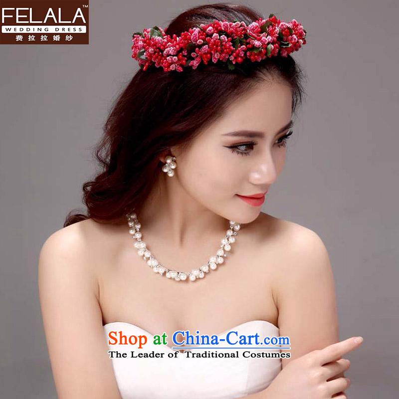 Ferrara Korean style necklace earrings crown headdress rings, bracelets?bride jewelry 5 2015 kit wedding Jewelry marry wedding accessories Head Ornaments necklaces earrings kit