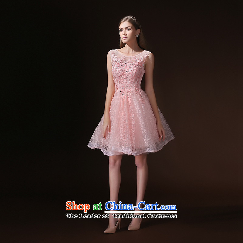 According to Lin Sha 2015 new summer short of pink bridesmaid services bon bon skirt bridesmaid mission dress evening dresses and sisters skirt bows to female pink L