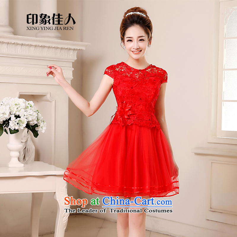 Toasting champagne bride services 2015 new marriage evening dresses red wedding bridesmaid service in a small dress dresses Mr Ronald?M