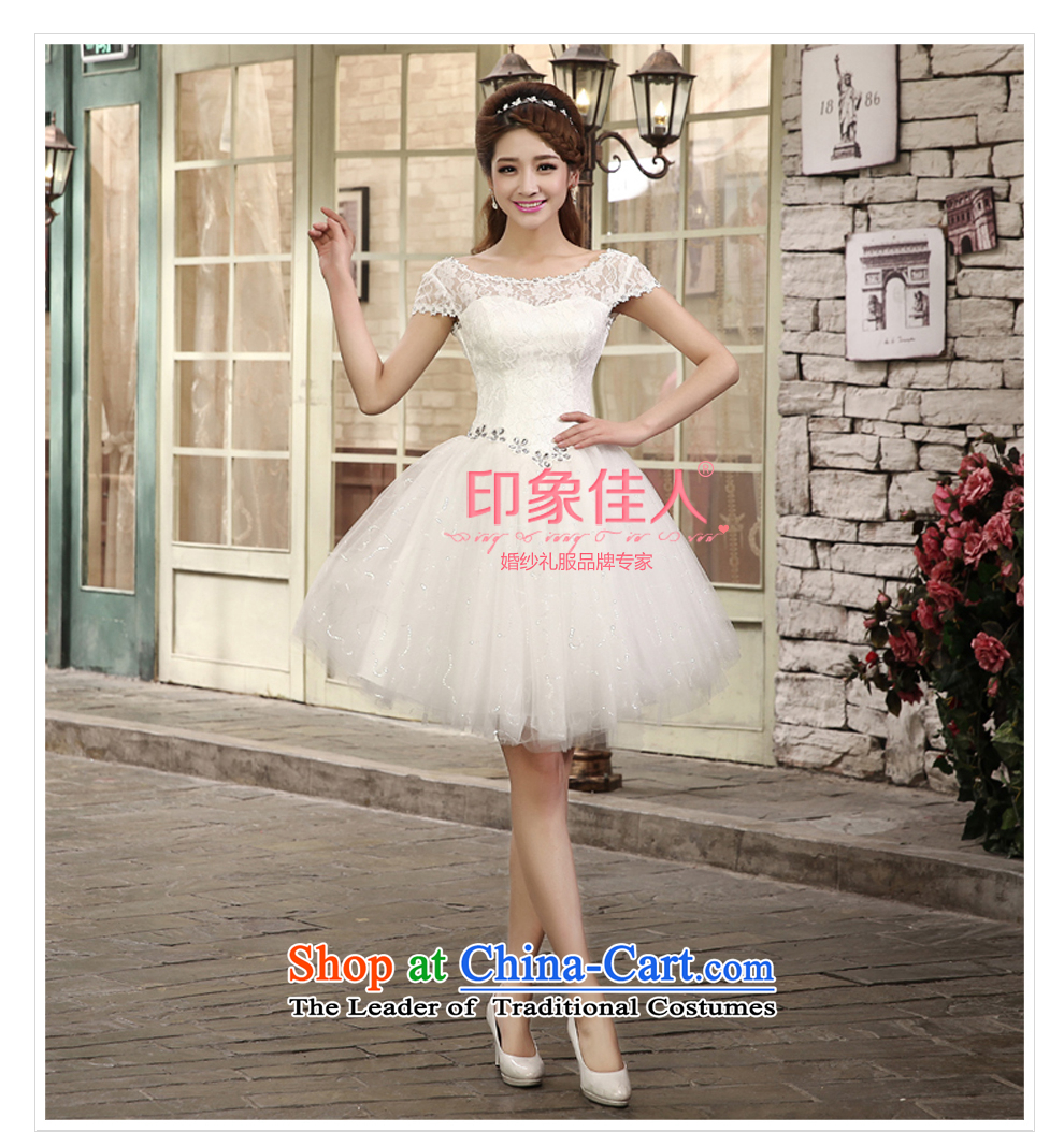 2015 Summer bridesmaid dress with short of bridesmaid lace small dress skirt marriages wedding dress bows bridesmaid services L1002 services whiteL picture, prices, brand platters! The elections are supplied in the national character of distribution, so action, buy now enjoy more preferential! As soon as possible.