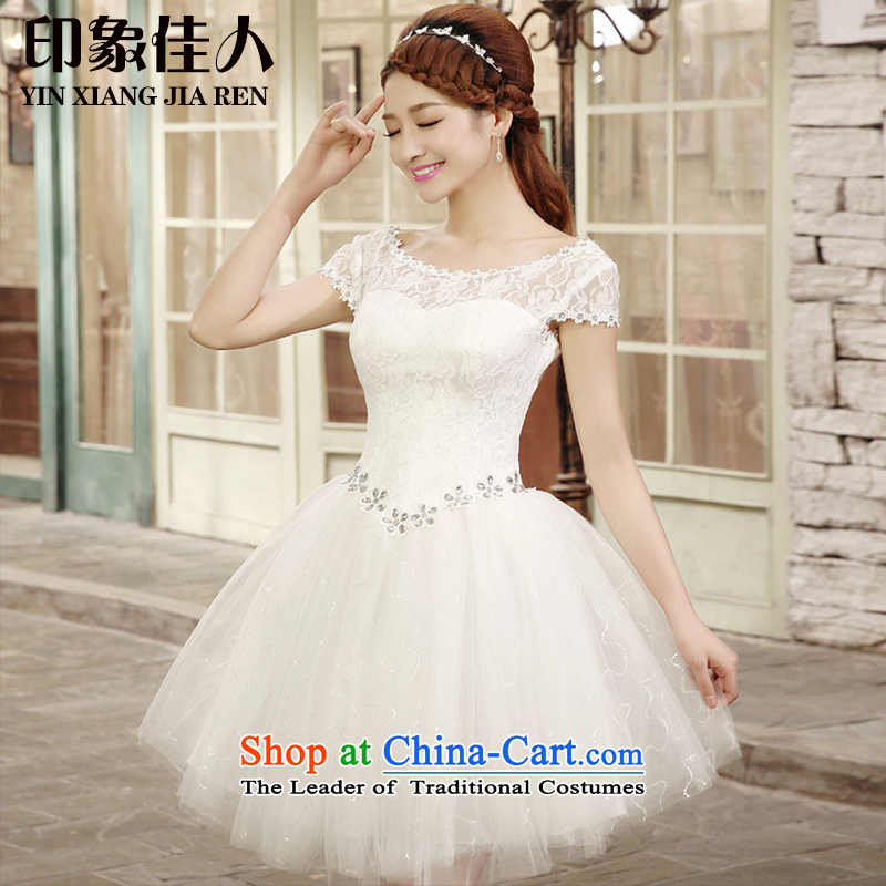 2015 Summer bridesmaid dress with short of bridesmaid lace small dress skirt marriages wedding dress bows bridesmaid services L1002 services white L
