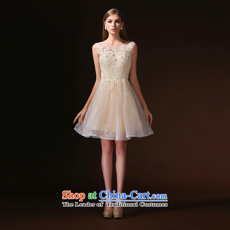 2015 new back bridesmaid dress dresses summer short of sister evening dresses marriages bows serving champagne color?S