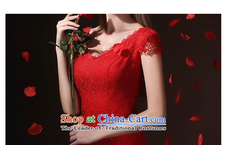 According to Lin Sha bows Service Bridal Fashion bows services evening dresses long crowsfoot Sau San slotted shoulder wedding wedding dress spring and summer redXL Photo, prices, brand platters! The elections are supplied in the national character of distribution, so action, buy now enjoy more preferential! As soon as possible.