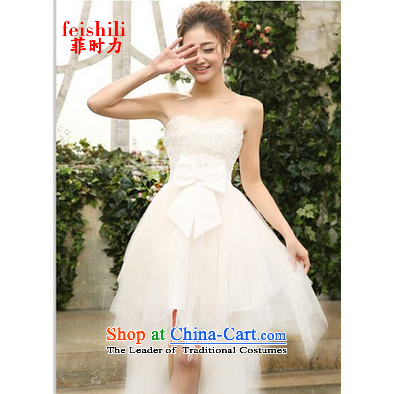 The Philippines,?2015 sexy fairies skirts and chest heavy industry bon bon dress dinner dress FF-FD-08_3086 white?S